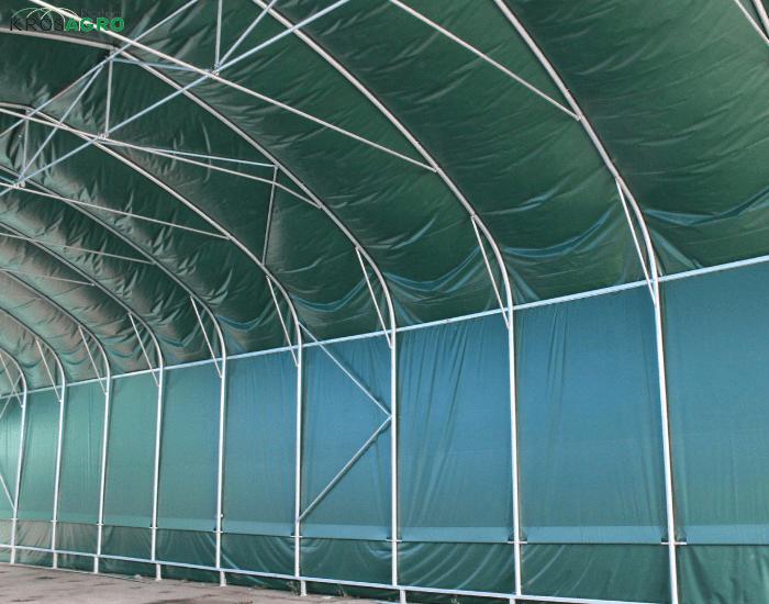Der Rahmen der Zelthalle - modular aufgebaut