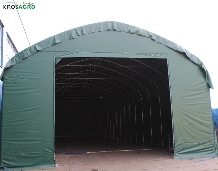 Un hall de tente pour l'industrie