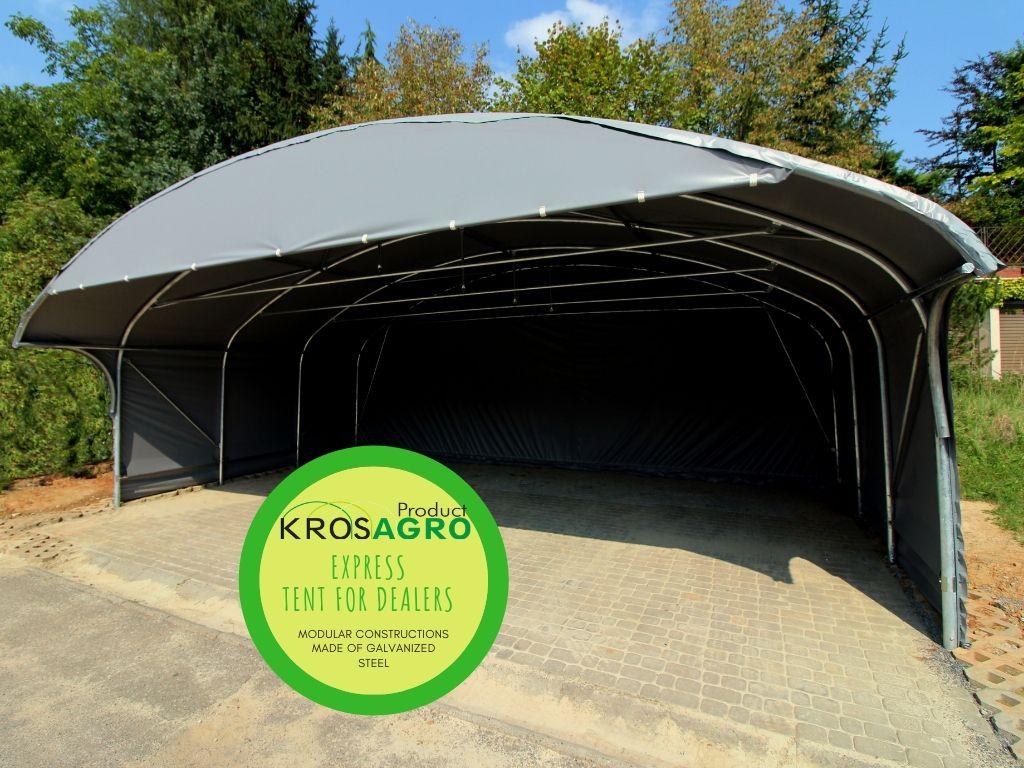Modular tent for outdoor trade