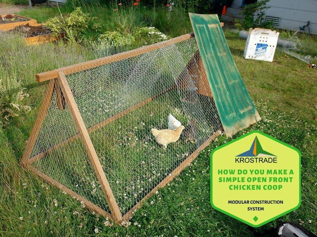 Wie macht man einen einfachen Hühnerstall mit offener Front?